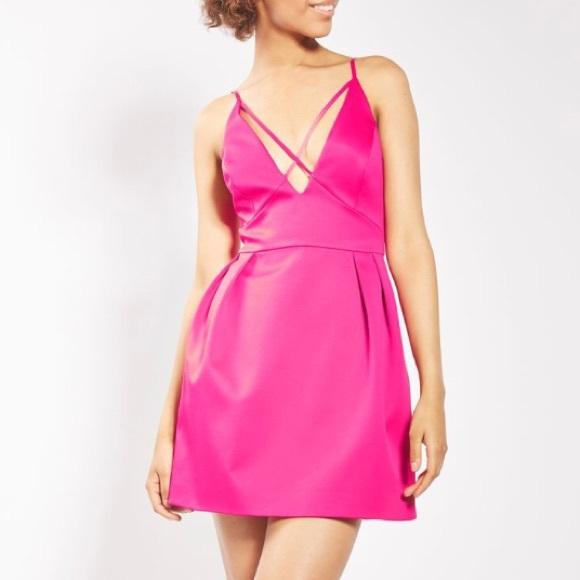Topshop Dresses Cross Front Mini Prom Dress Poshmark
